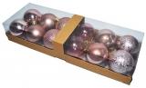 Globuri pentru pomul de Craciun, color, 6 cm, 12 buc/set