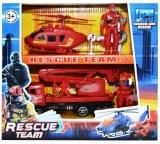 Set de joaca Pompieri, cu vehicule si figurine