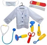 Set de joaca Costum doctor cu accesorii, 10 piese