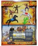 Set de joaca figurine indieni, cowboy, locomotiva si accesorii