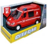 Jucarie Masina de pompieri cu frictiune, in cutie