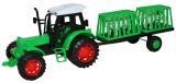 Jucarie Tractor cu remorca si 2 animale