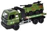 Jucarie Camion militar cu tanc, 27 cm