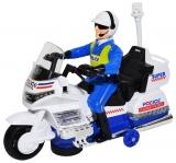 Motocicleta cu lumina, sunet si figurina politist