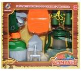 Set de joaca Camping cu accesorii, 6 piese/cutie