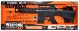 Jucarie pistol mitraliera cu baterii, 75 cm