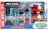 Set de joaca Trafic cu semafoare, baterii, 9 piese/cutie