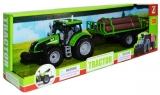Jucarie Tractor cu baterii si remorca cu lemne