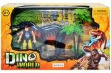 Set de joaca, dinozaur cu luptator si accesorii, in cutie