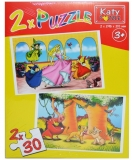 Puzzle 2 in 1, 30 piese, Katy