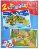 Puzzle 2 in 1, 60 piese, Katy
