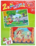 Puzzle 2 in 1, 117 piese, Katy