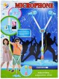 Set de joaca Microfon dublu cu baterii si suport, pentru copii