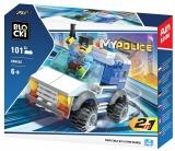 Joc constructie, My Police, Jeep politie, 101 piese Blocki