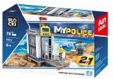 Joc constructie, My Police, Inchisoare, 78 piese Blocki