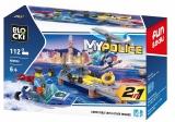 Joc constructie, My Police, Platforma politie, 112 piese Blocki