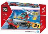Joc constructie, My Fire Brigade, Platforma pompieri, 87 piese Blocki