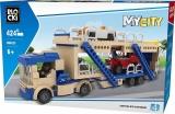 Joc constructie, My City, Trailer 2 nivele, 424 piese Blocki