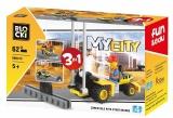 Joc constructie, My City, Masina cu scripete 3:1, 62 piese Blocki