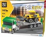 Joc constructie, My City, Tir tractare + buldozer, 145 piese Blocki