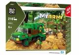 Joc constructie, My Army, Camion militar in jungla, 210 piese Blocki