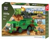 Joc constructie, My Army, Tir militar cu lansator rachete, 222 piese Blocki