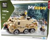 Joc constructie, My Army, Vehicul militar de lupta, 180 piese Blocki