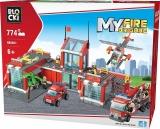 Joc constructie, My Fire Brigade, Statie pompieri, 774 piese Blocki