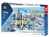 Joc constructie, My Police, Statie politie pe apa, 536 piese Blocki