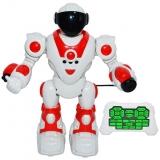 Robot cu telecomanda RC si AC, 27 cm, culoare alb/rosu, Police Assault