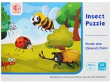 Puzzle 24 piese, model Insecte
