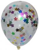 Baloane transparente cu confetti, 4.5 g, 50 buc/set
