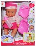 Bebelus care face pipi, set roz