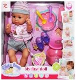 Bebelus care face pipi cu olita si accesorii, in cutie