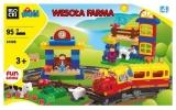 Joc constructie Ferma cu Trenulet, 95 piese, Blocki mubi