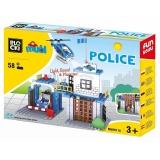 Joc constructie Statie Politie, 58 piese, Blocki mubi