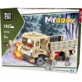 Joc constructie Camion militar, 183 piese, Blocki