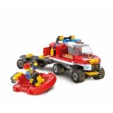 Joc constructie Garda pompieri, 120 piese, Blocki