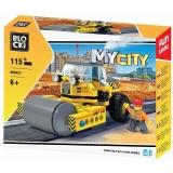 Joc constructie Masina cu cilindru asfaltare, 115 piese, Blocki