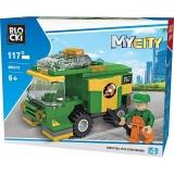 Joc constructie Masina maturare strada, 117 piese, Blocki