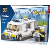 Joc constructie Masina-Inchisoare politie, 135 piese, Blocki