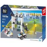 Joc constructie Statie politie, 193 piese, Blocki