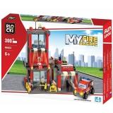 Joc constructie Statie Pompieri, 300 piese, Blocki