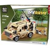 Joc constructie Vehicul militar scut, 219 piese, Blocki