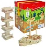 Joc constructii din lemn, 120 piese/cutie