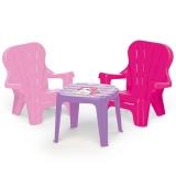 Set masuta cu 2 scaunele Unicorn, roz, 2503 Dolu