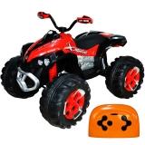 ATV pentru copii, cu acumulator, 12 V, 100 cm rosu