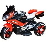 Motocicleta tip triciclu cu acumulator, culoare rosu/negru, 12 V