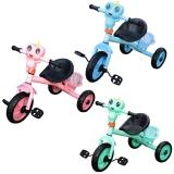 Tricicleta cu lumina si muzica, model broscuta, diverse culori