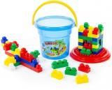 Cuburi constructii Junior , 57 piese/galetusa, Polesie